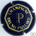 Champagne capsule 3 Bleu, rayures fines