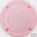 Champagne capsule 46.b Estampée, rose pâle et argent