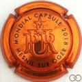 Champagne capsule 26 Estampée cuivre