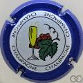 Champagne capsule 593.fa Bleu, centre bleu pastel