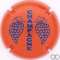 Champagne capsule C5.hb Orange et bleu