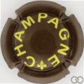 Champagne capsule A63.j Quart, marron et jaune