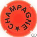 Champagne capsule 1014.c Orange mat et noir, verso or