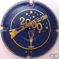 Champagne capsule 622 Bleu et or