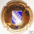 Champagne capsule 453.e Cuivre foncé écriture fine