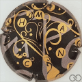 Champagne capsule 966.b Noir et or, en nabuchodonosor