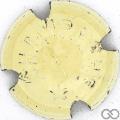 Champagne capsule 105.d Blanc cassé, grandes lettres