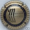 Champagne capsule 799.l M. Majesté, verso or