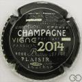 Champagne capsule 903.di Noir, contour blanc