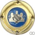 Champagne capsule 693.f Fond bleu