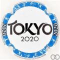 Champagne capsule A81.a Tokyo 2020, cercle bleu
