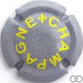 Champagne capsule A18 Lys, gris et jaune, quart