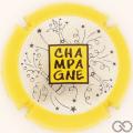 Champagne capsule 999 Argent, contour jaune