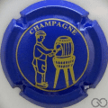 Champagne capsule 568.a Bleu et or, barre courte au E