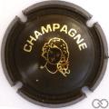 Champagne capsule C18.ed Opalis marron et or