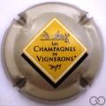 Champagne capsule 665.fa Gris-crème pâle, petit losange