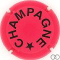Champagne capsule 1014.d Fuchsia mat et noir, verso or