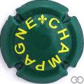 Champagne capsule A18.a Lys, vert et jaune, quart
