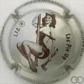 Champagne capsule 773.hc Pin'Up: gris métallisé