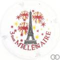 Champagne capsule 652 Tour Eiffel, lettres rouge