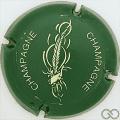 Champagne capsule 678 Vert et crème