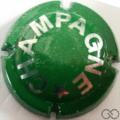 Champagne capsule 425.ka Vert foncé et argent