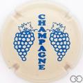 Champagne capsule C5.hd Crème et bleu