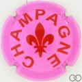 Champagne capsule A91.a Rose et bordeaux