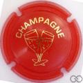 Champagne capsule C18.gf Opalis orange et or