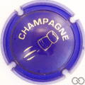 Champagne capsule C18.ab Opalis bleu et or