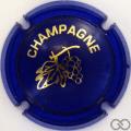 Champagne capsule C18.fb Opalis bleu et or