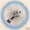 Champagne capsule 1031.g Argent, contour bleu