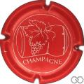 Champagne capsule 630.c Rouge et blanc, avec cercle