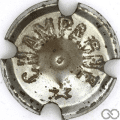 Champagne capsule 111.aa Métal, grandes lettres