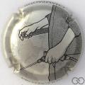 Champagne capsule 861.f La protection: fond argent