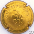 Champagne capsule 762.f Or martelé