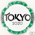 Champagne capsule A81.c Tokyo 2020, cercle vert