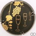 Champagne capsule  Nabuchodonosor , noir et or