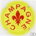 Champagne capsule A91.e Jaune et bordeaux