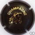 Champagne capsule C18.fd Opalis marron et or