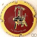 Champagne capsule 727.wu Bordeaux, contour jaune Lettres fines