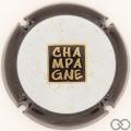 Champagne capsule 999.b Blanc, contour noir
