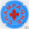 Champagne capsule A91.b Bleu et bordeaux