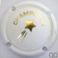 Champagne capsule C18.ca Opalis blanc et or