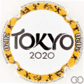 Champagne capsule A81.b Tokyo 2020, cercle jaune
