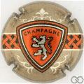 Champagne capsule 1137.f Ecusson Lion, Quart, fond bistre