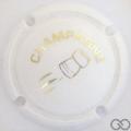 Champagne capsule C18.aa Opalis blanc et or