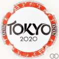 Champagne capsule A81.d Tokyo 2020, cercle rouge