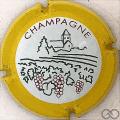 Champagne capsule 734 Contour jaune
