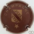 Champagne capsule 453.f Marron et or mat